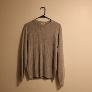 Dockers Oatmeal Beige Cable Knit Sweater M